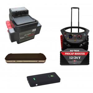 Startbooster & Batteriladdare - Med batteri eller kondensator.