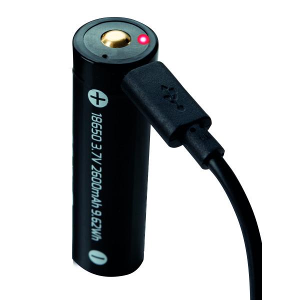 Batteri 18650 USB Röd